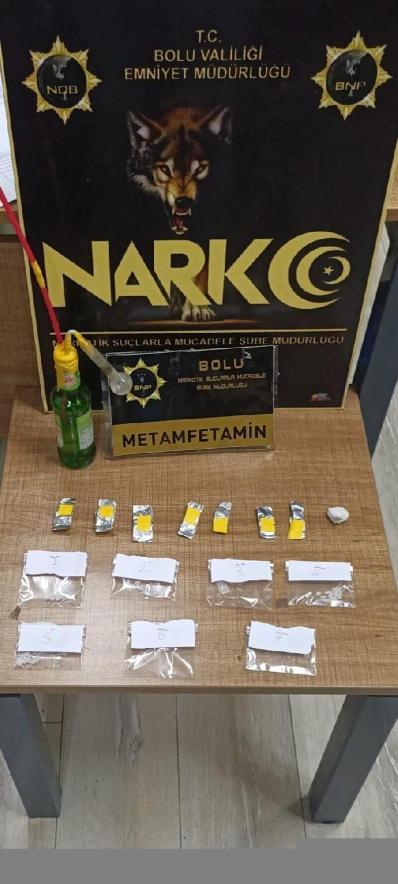 Hurdacı, metamfetamin ile yakalandı