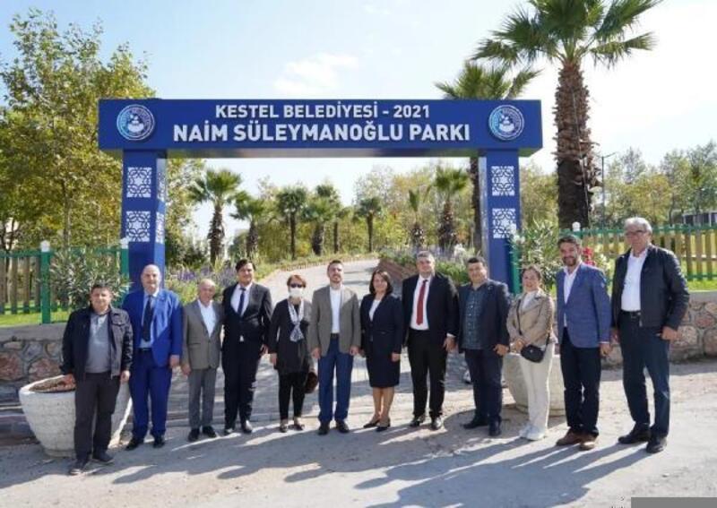 Bulgaristan Hak ve Özgürlükler Partisi temsilcileri Kestel'e geldi