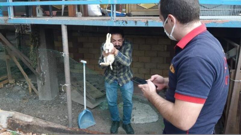 Kuyuya düşen tavşanı itfaiye kurtardı