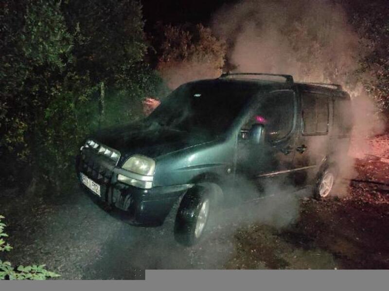 Park halindeki araç yandı, sahibi kundaklandığını iddia etti