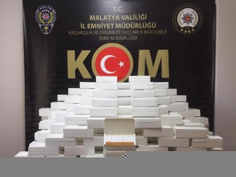 Malatya'da 50 bin 200 kaçak makaron ele geçirildi