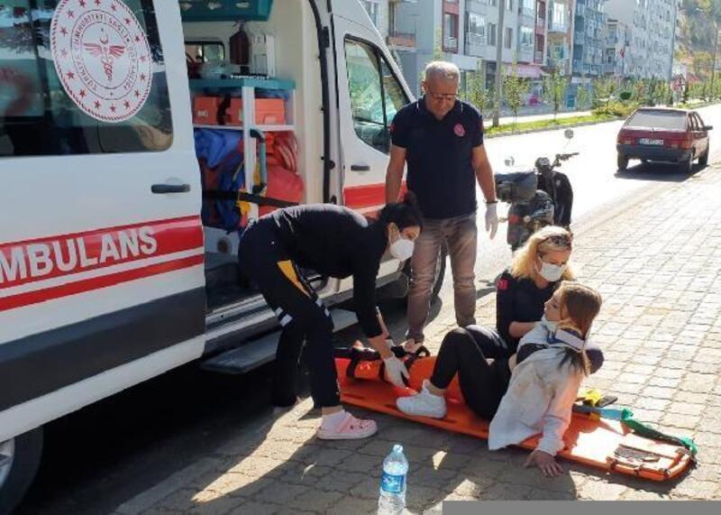 Eğirdir'de elektrikli bisiklet kazası