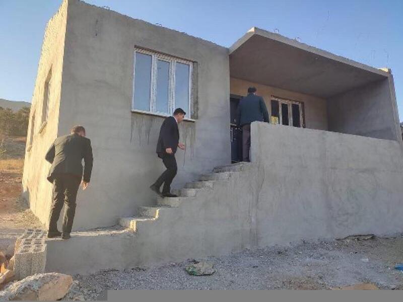 Yangın mağduruna yeni ev inşa edildi