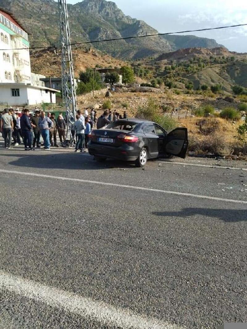 Sason'da iki otomobil kafa kafaya çarpıştı: 1 yaralı