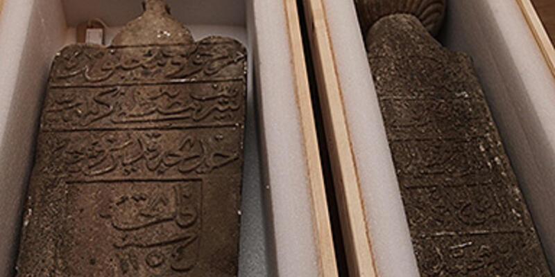 Satılmak istenen Osmanlı mezar taşları Türkiye'de