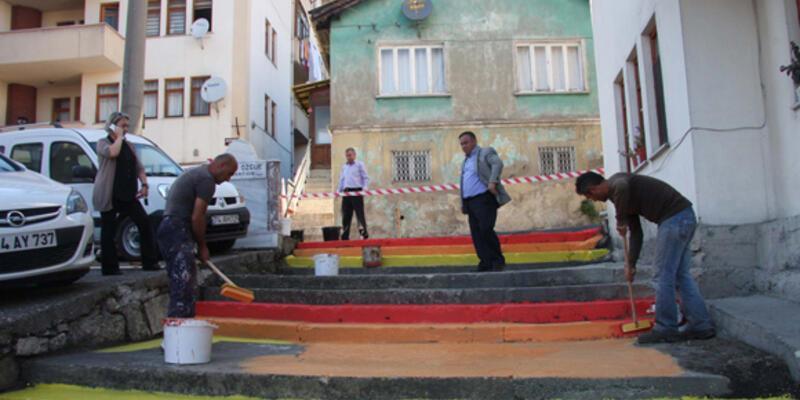 Bartın'da belediye renklendirdi