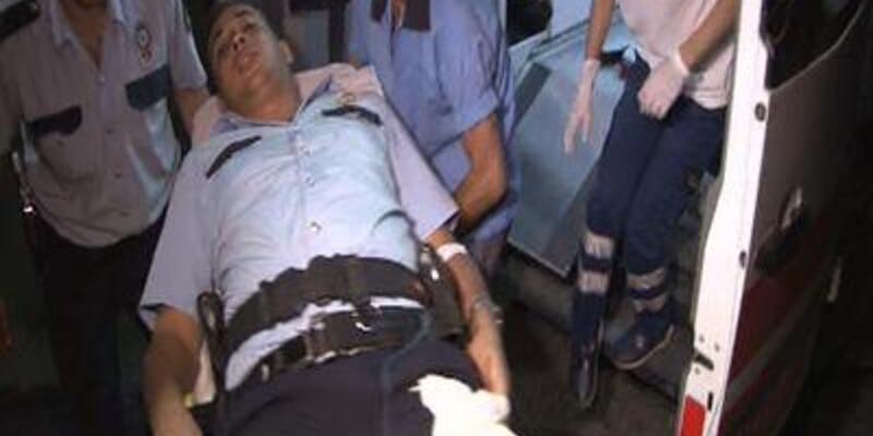 Polis kazara kendini vurdu!