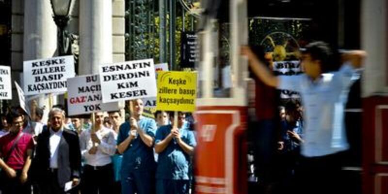 Taksim'de esnaf eylemi!