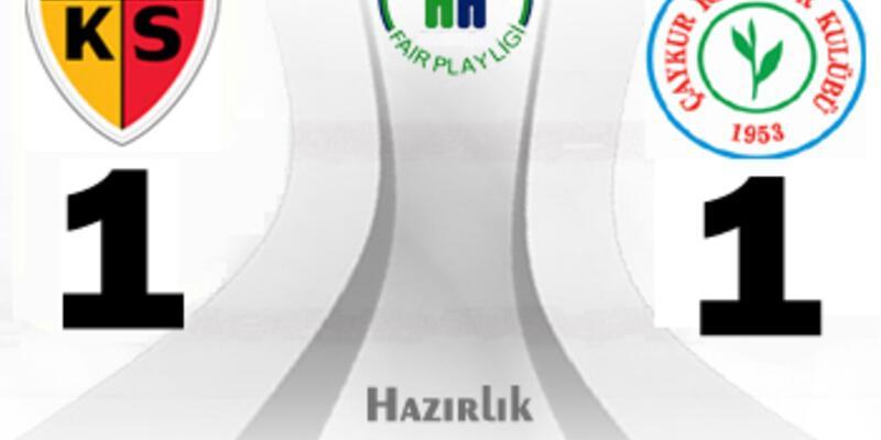 Kayserispor - Çaykur Rizespor: 1-1