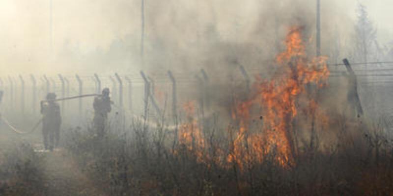 Hatay'da 200 dekar alan yandı
