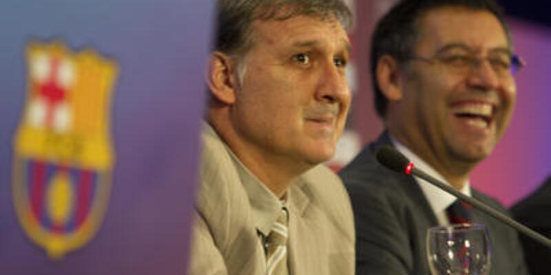 Barcelona Tata'yı basına tanıttı