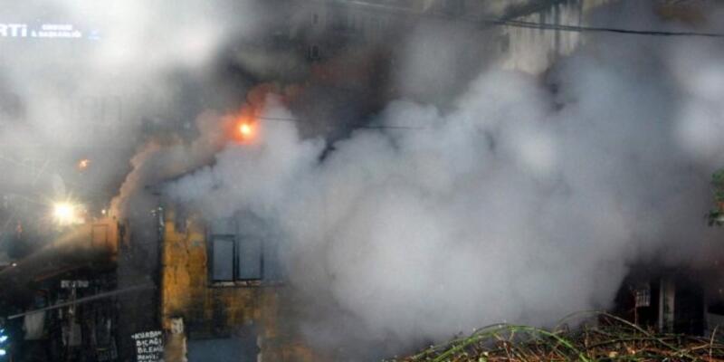 Çorum'da bir cami ve 5 ev yandı