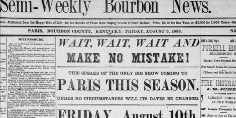 1883'ün Facebook'u, hatta biraz Zaytung'u