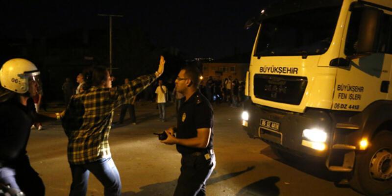 Ankara'da protestoya müdahale