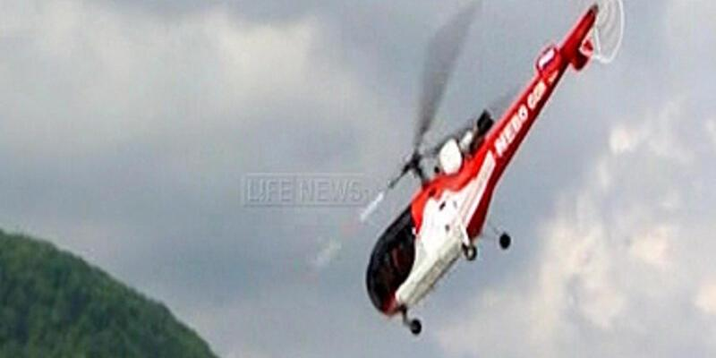 Rusya'da helikopterin düşme anı