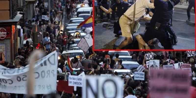 İspanya'da istifa çağrısına copla yanıt