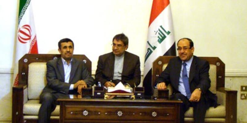 İran Cumhurbaşkanı Ahmedinejad Irak'ta