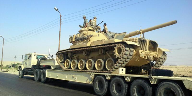 Mısır ordusu Sina'yı takviye ediyor