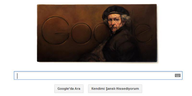 Rembrandt van Rijn için özel doodle!