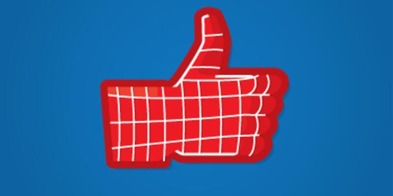 Süper kahramanların Facebook beğen tuşu!