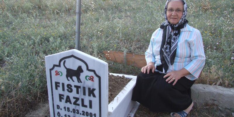Ölen kedisine mezar yaptırdı