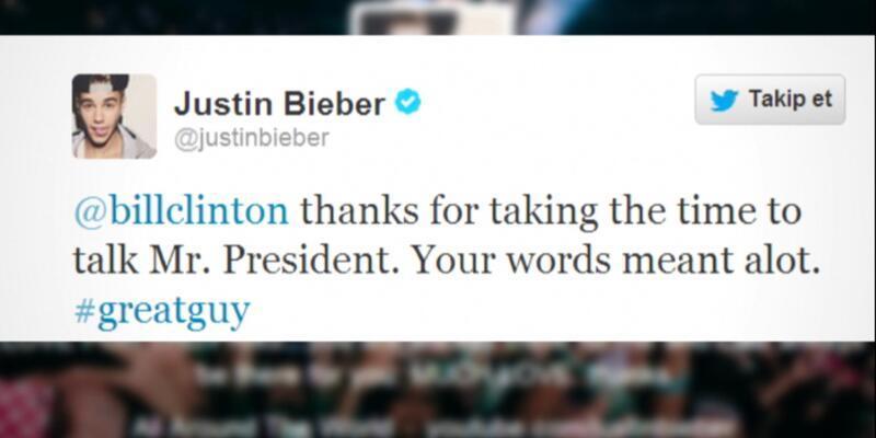 Justin Bieber küfürler için Clinton'dan özür diledi