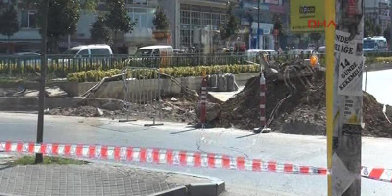Üsküdar'da  doğalgaz borusu patladı