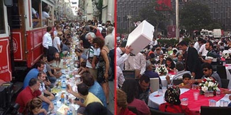 Taksim'de iki farklı iftar