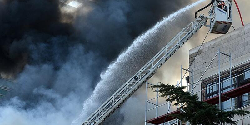 DHMİ binasındaki yangın söndürüldü