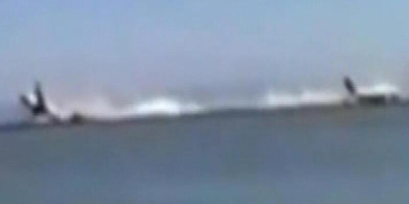 ABD'de düşen uçağın görüntüleri ortaya çıktı