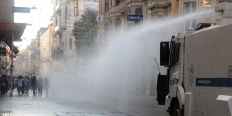 Taksim'de yine polis müdahalesi