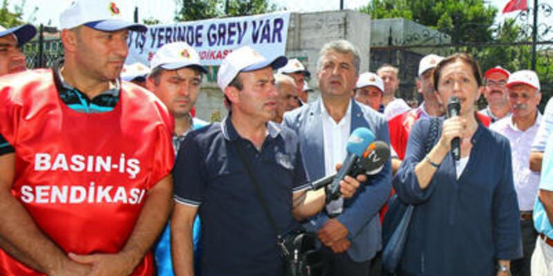 Darphane işçileri greve çıktı