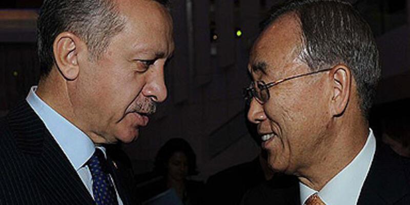 Erdoğan, Ban Ki-mun ile Mısır'ı görüştü