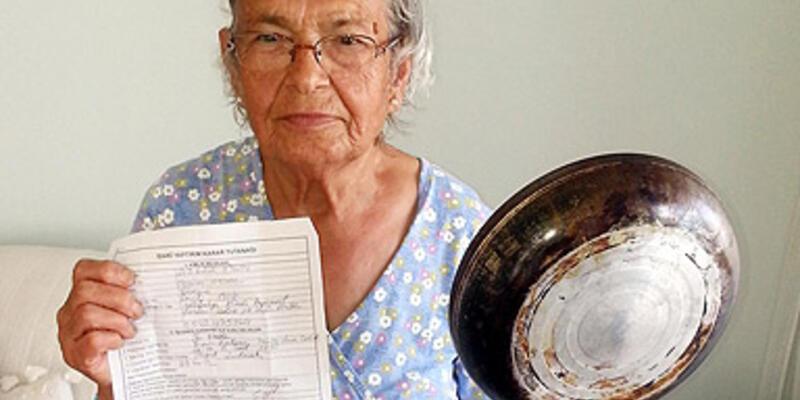 Tencere tava çalan 86 yaşındaki nineye ceza