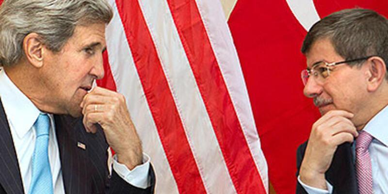 """Davutoğlu ve Kerry ''Mısır""""ı görüştü"""