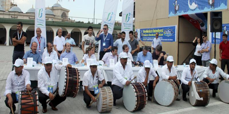 Ramazan davulcuları yarıştı