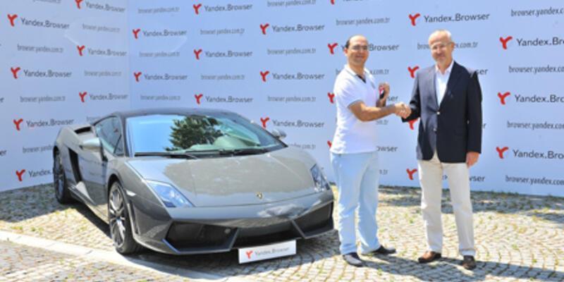 Yandex'in Lamborghini'si Gaziantep'e gitti