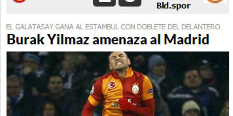 Burak İspanyol basınının gözünü korkuttu