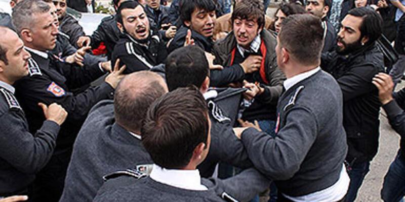 KTÜ'de öğrenci-güvenlikçi arbedesi