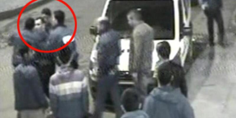 Polis dayağı kamerada