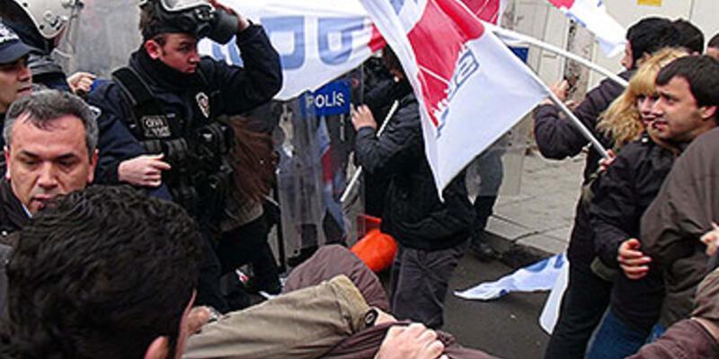 Dolmabahçe'de eylemcilere polis müdahalesi