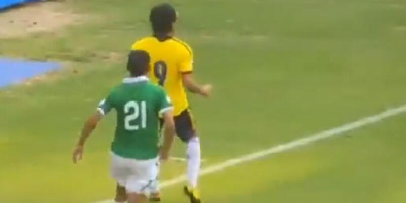 Falcao, Bolivyalı oyuncuyu ıskartaya çıkardı