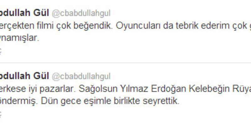 Cumhurbaşkanı Gül'den Yılmaz Erdoğan tweet'i