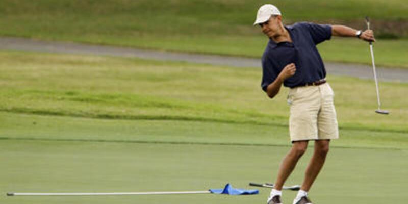 Obama Tiger Woods ile oynadı