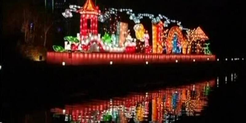 Çin'den ışık şov!