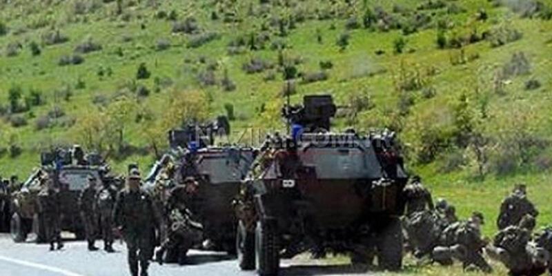 Askeri konvoyun yoluna bombalı tuzak