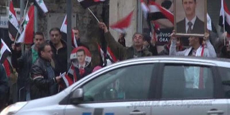 Esad yanlılarından Erdoğan'a protesto