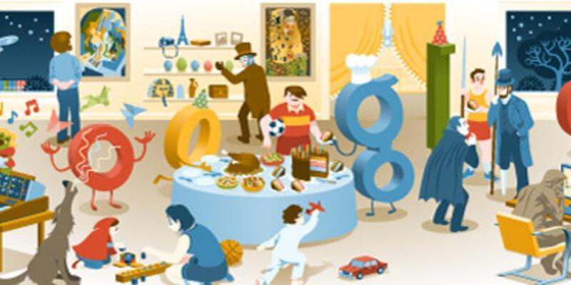 Google'dan yılbaşı gecesine özel doodle