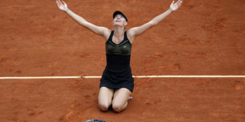 Sharapova'yı sakatlık durduramadı