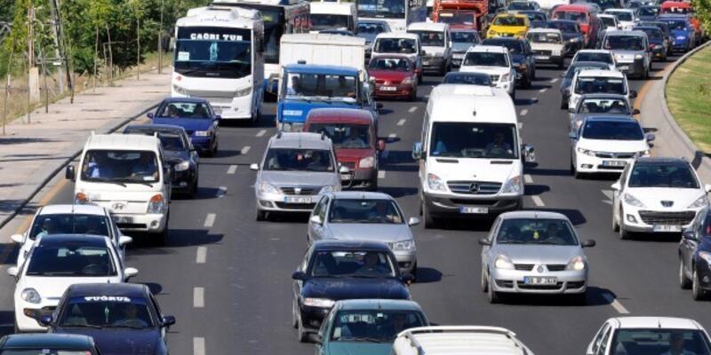 Trafikteki araç sayısı ekimde arttı